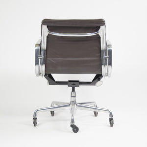 SOLD Herman Miller Eames Soft Pad Aluminum Group Chair Brown Leather 2006 1x Avail