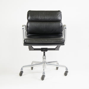 SOLD Herman Miller Eames Soft Pad Aluminum Group Chair Black Leather 2000's 2x Avail