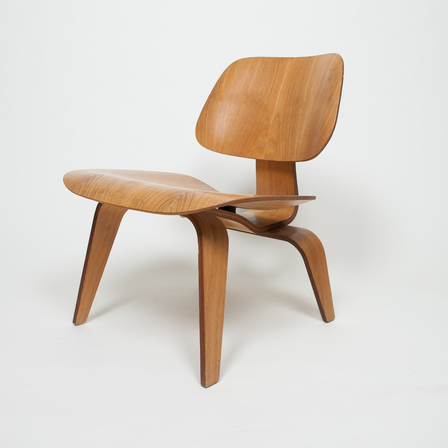 Herman miller plywood lounge chair - Eames Herman Miller Early 1950 S Lcw Plywood Lounge Chair Original Calico Ash