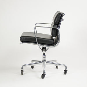 Herman Miller Eames Soft Pad Aluminum Group Chair Black Leather 2006 MINT