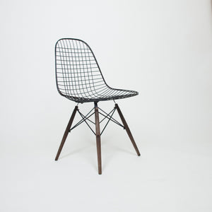 SOLD Early 1950's Herman Miller Eames DKW Dowel Wire Chairs Original Pair
