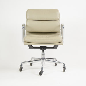 Herman Miller Eames Soft Pad Aluminum Group Chair Tan Leather 2000's 2x Available