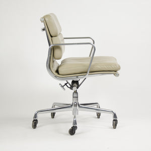 SOLD Herman Miller Eames Soft Pad Aluminum Group Chair Tan Leather 2000's 2x Available