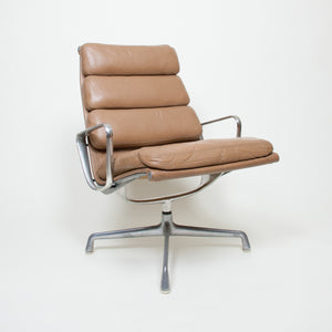 SOLD Eames Herman Miller Soft Pad Lounge Chair Tan Leather