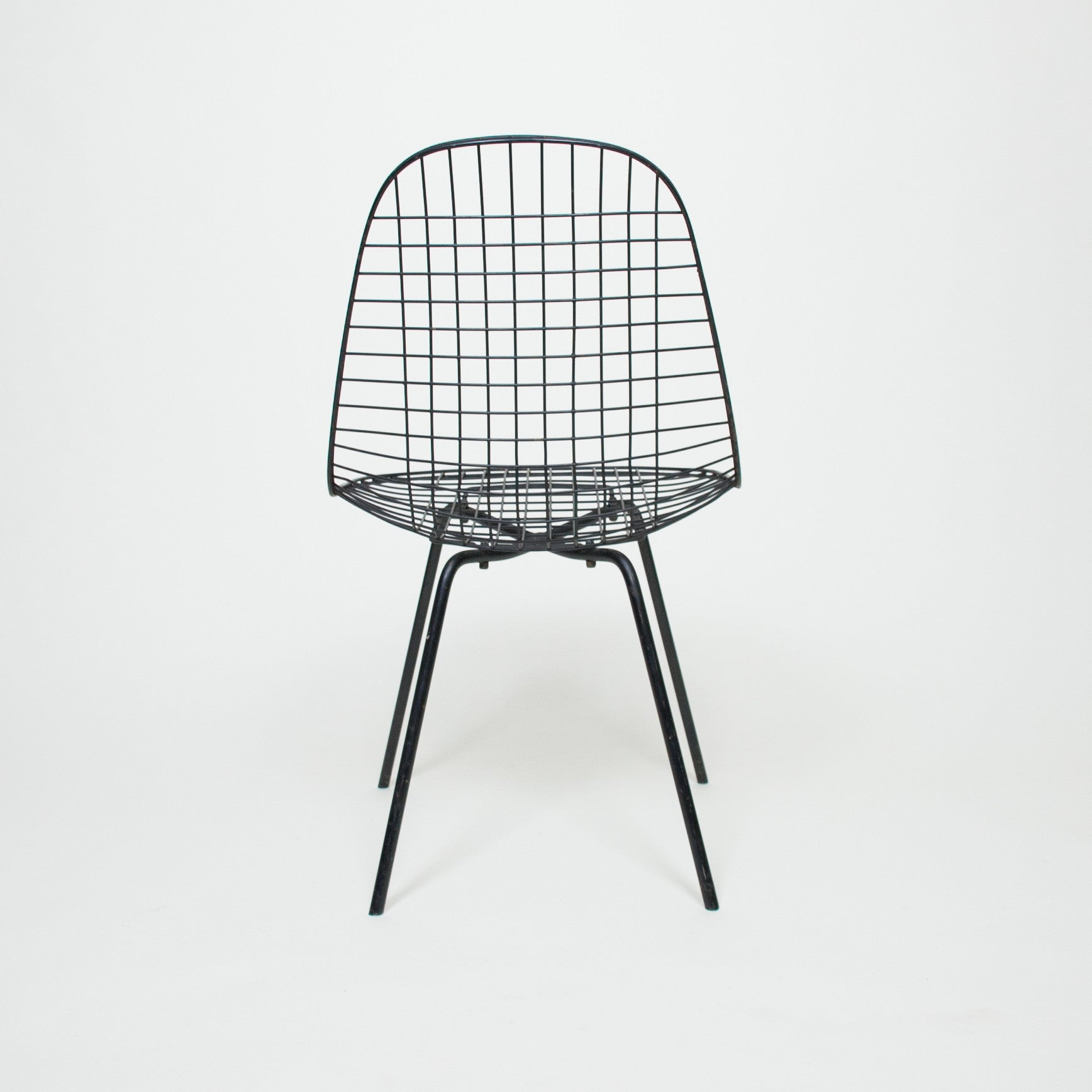 SOLD Early 1950's Herman Miller DKX Eames X Base Wire Chairs Original (Set Of 2)