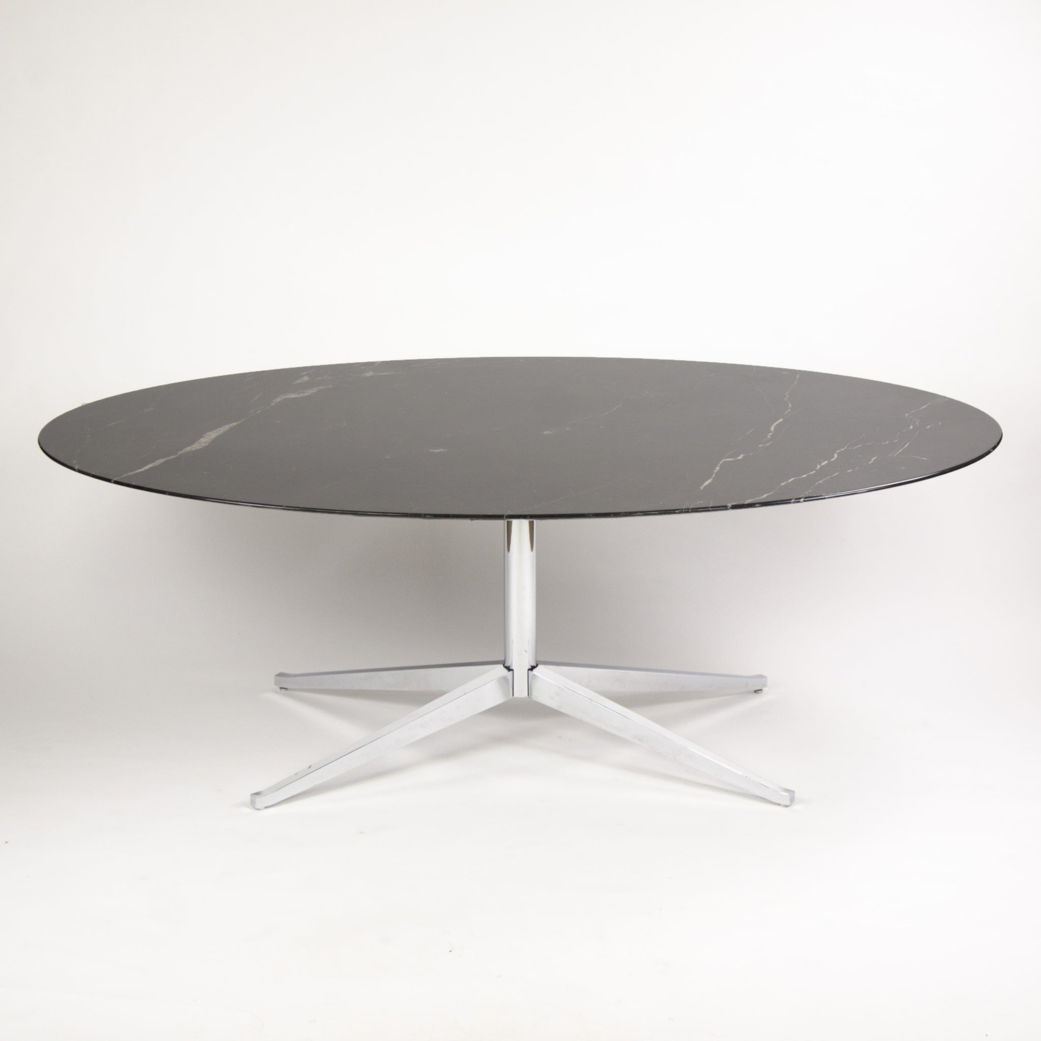 SOLD Florence Knoll 78 in Black Marble Dining Conference Table 2007 2x Available