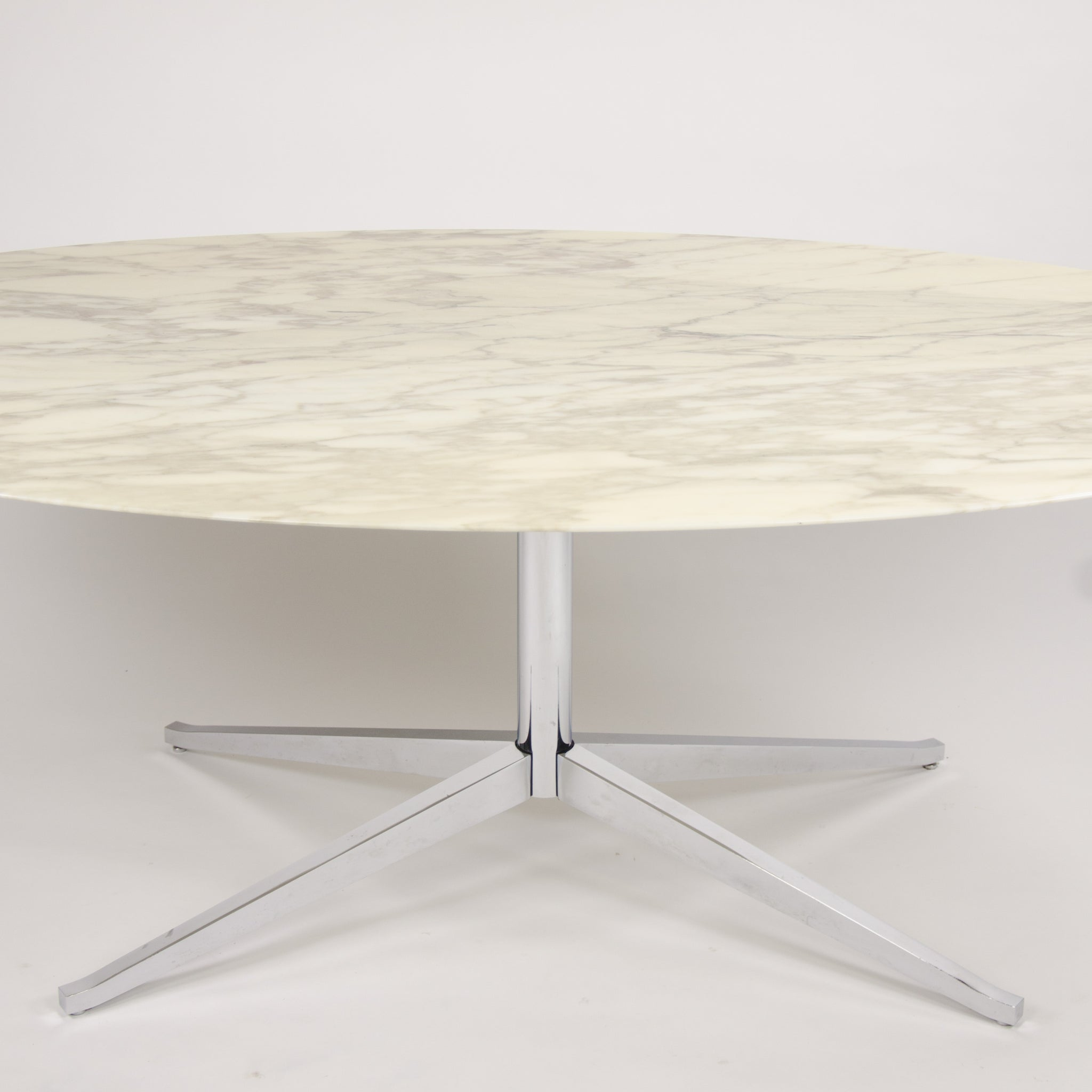 Florence Knoll 78in Calacatta Marble Dining Conference Table 2009 5x Available