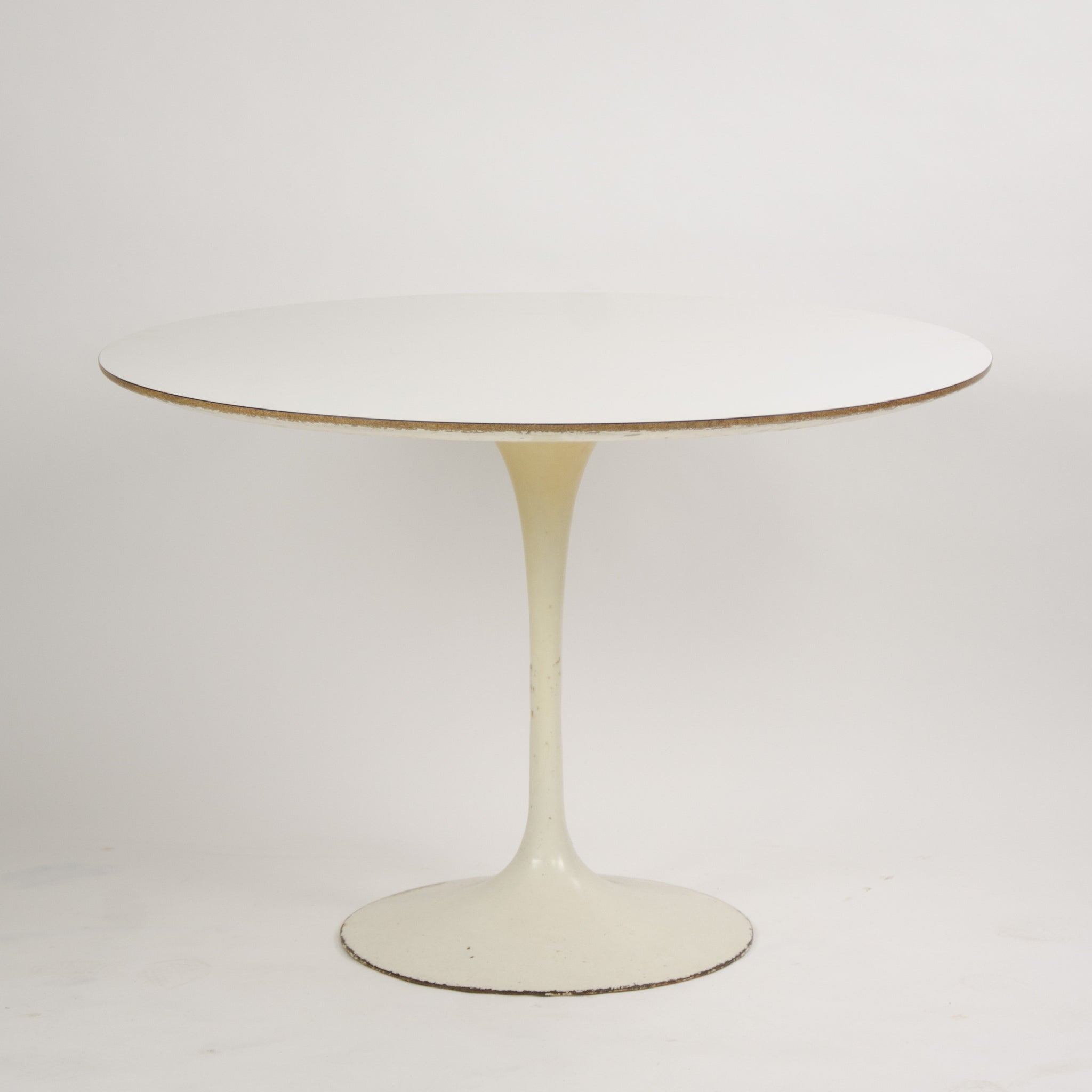 SOLD Eero Saarinen For Knoll 42 Inch Tulip Cafe / Dining Table Marked 1960's
