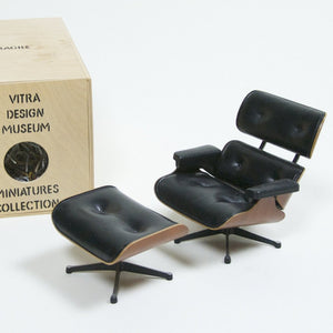 SOLD Vitra Miniature Design Eames Lounge Chair and Ottoman