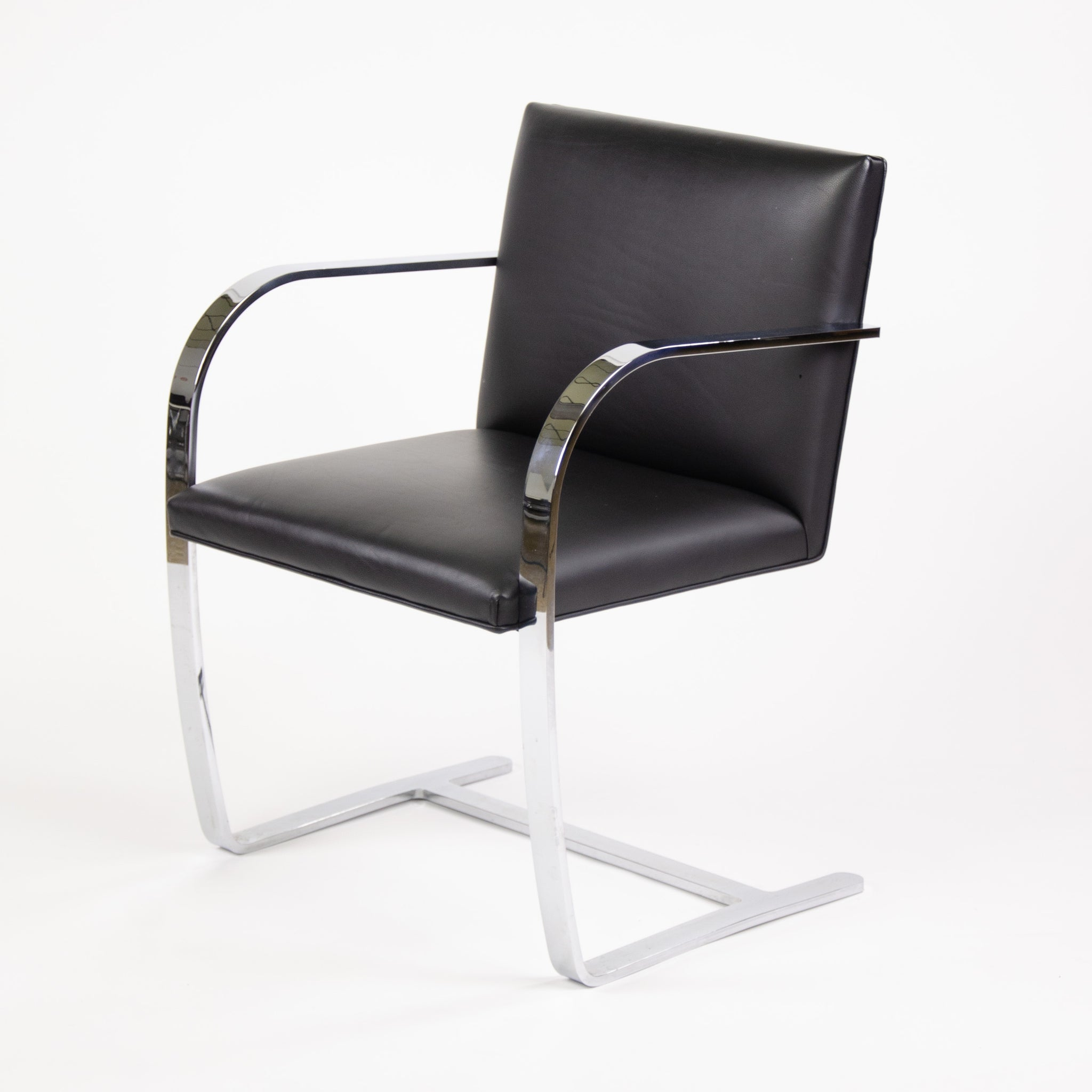 SOLD Knoll Mies Van Der Rohe Brno Chairs Black Leather Sets Available 2000s MINT