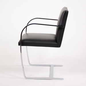SOLD Knoll Mies Van Der Rohe Brno Chairs Black Leather 2000's