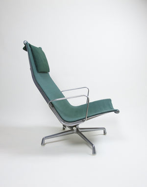 SOLD Eames Herman Miller Green Aluminum Group Lounge Chair and Ottoman