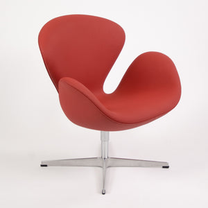 SOLD 2010 Arne Jacobsen for Fritz Hansen Denmark Swan Chair Red Upholstery Knoll MINT
