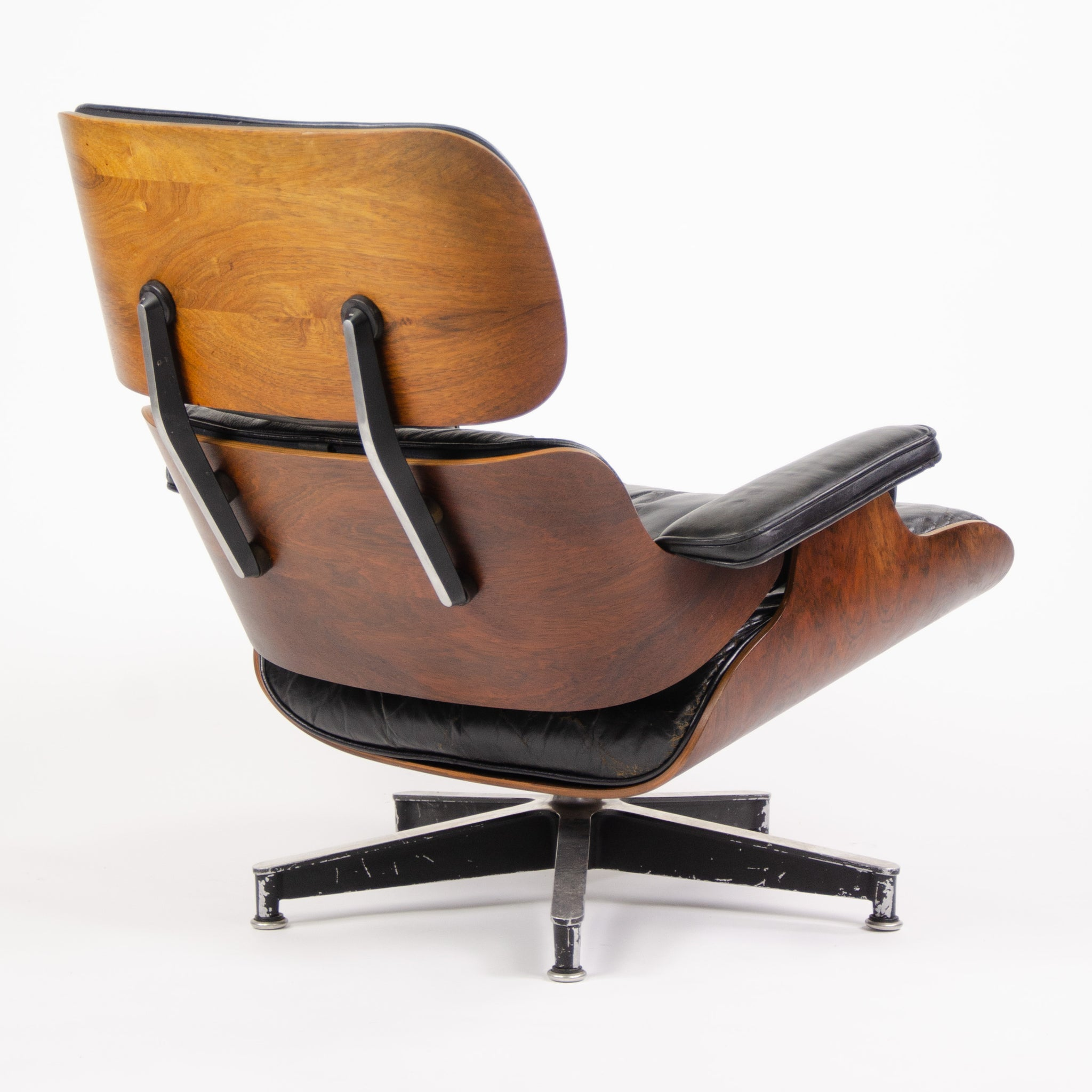 1956 Holy Grail Herman Miller Eames Lounge Chair w Swivel Ottoman Boots + 3 Hole