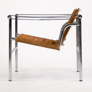 SOLD 1960's Authentic Le Corbusier Cassina LC1 Basculant Lounge Chair Cowhide Marked