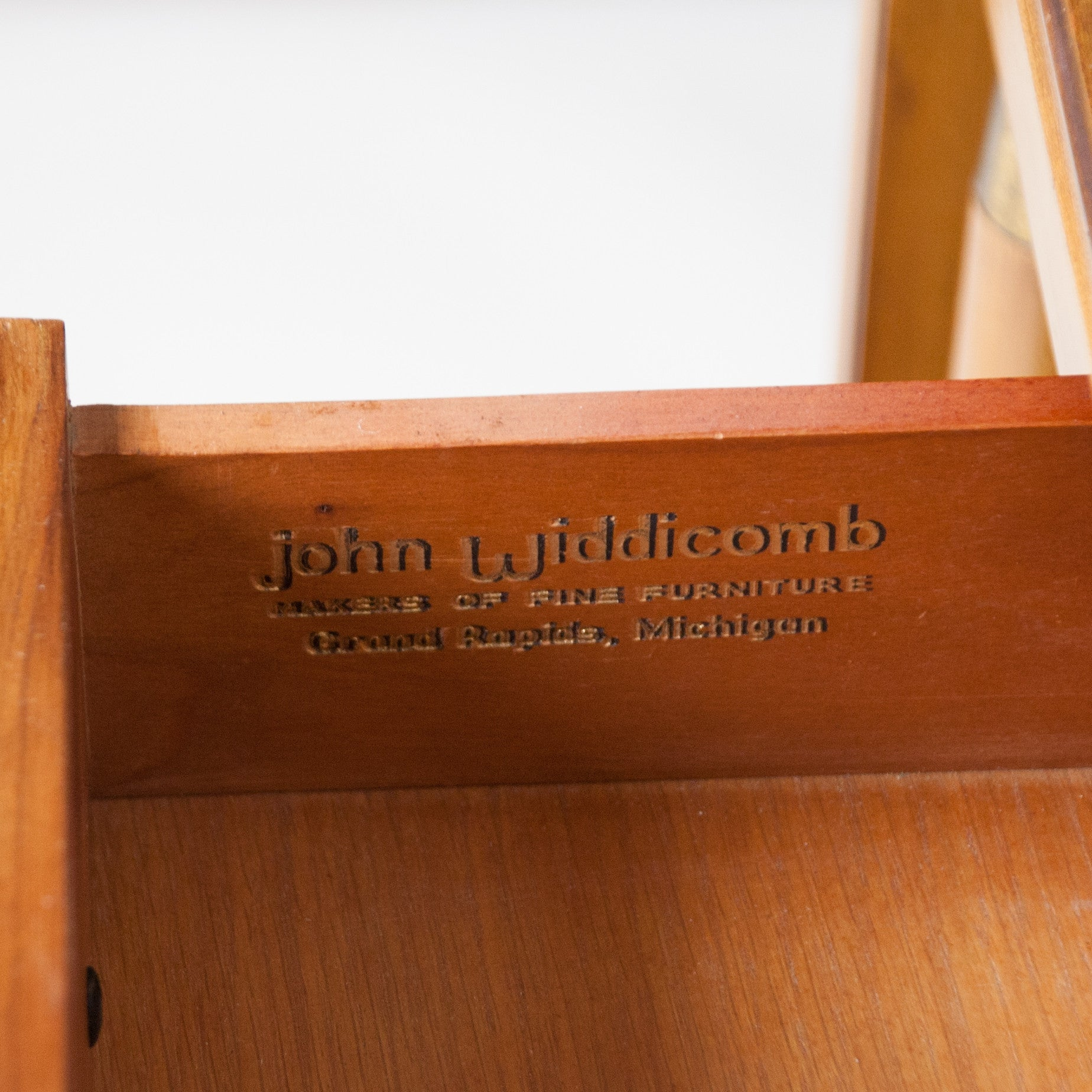 SOLD John Widdicomb Drop Leaf Walnut and Brass Cart