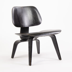SOLD Eames Evans Herman Miller 1948 LCW Black Aniline Dye Lounge Chair