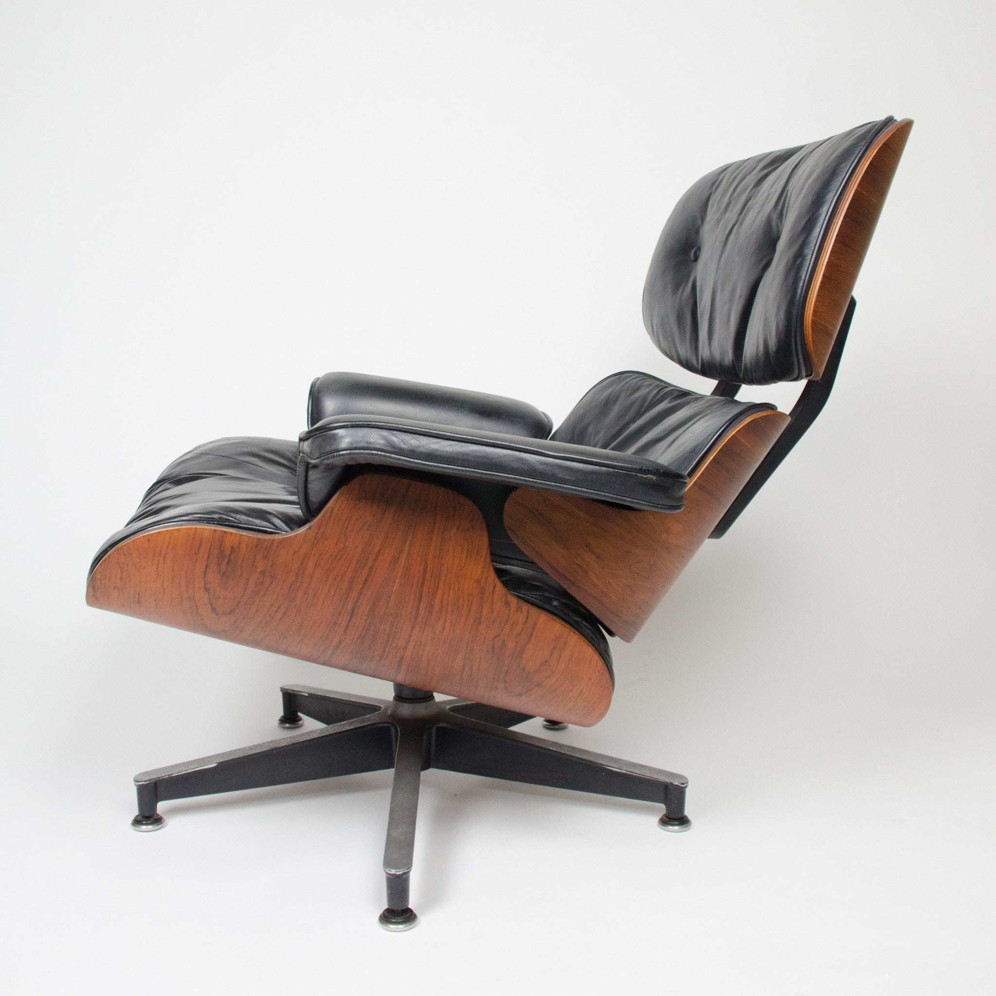 SOLD 1960's Herman Miller Eames Lounge Chair & Ottoman Rosewood 670 671