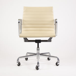 SOLD Herman Miller Eames Aluminum Group Executive Low Back Chair Ivory Leather 2000's