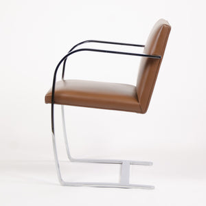 SOLD Knoll Mies Van Der Rohe Brno Chairs Brown Leather 3x Available