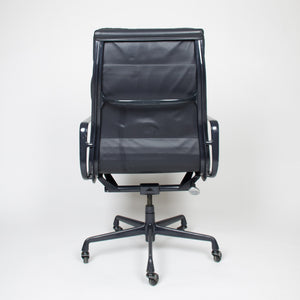 Dark Gray Eames Herman Miller Soft Pad High Back Aluminum Group Chair