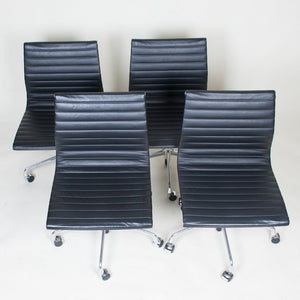 SOLD Eames Herman Miller Low Back Aluminum Group Chairs 4 Available