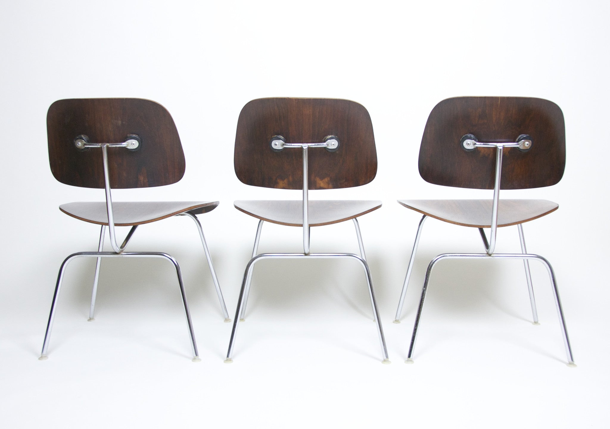 SOLD Eames Herman Miller Rosewood DCM's Dining Chairs Original Set Of Six