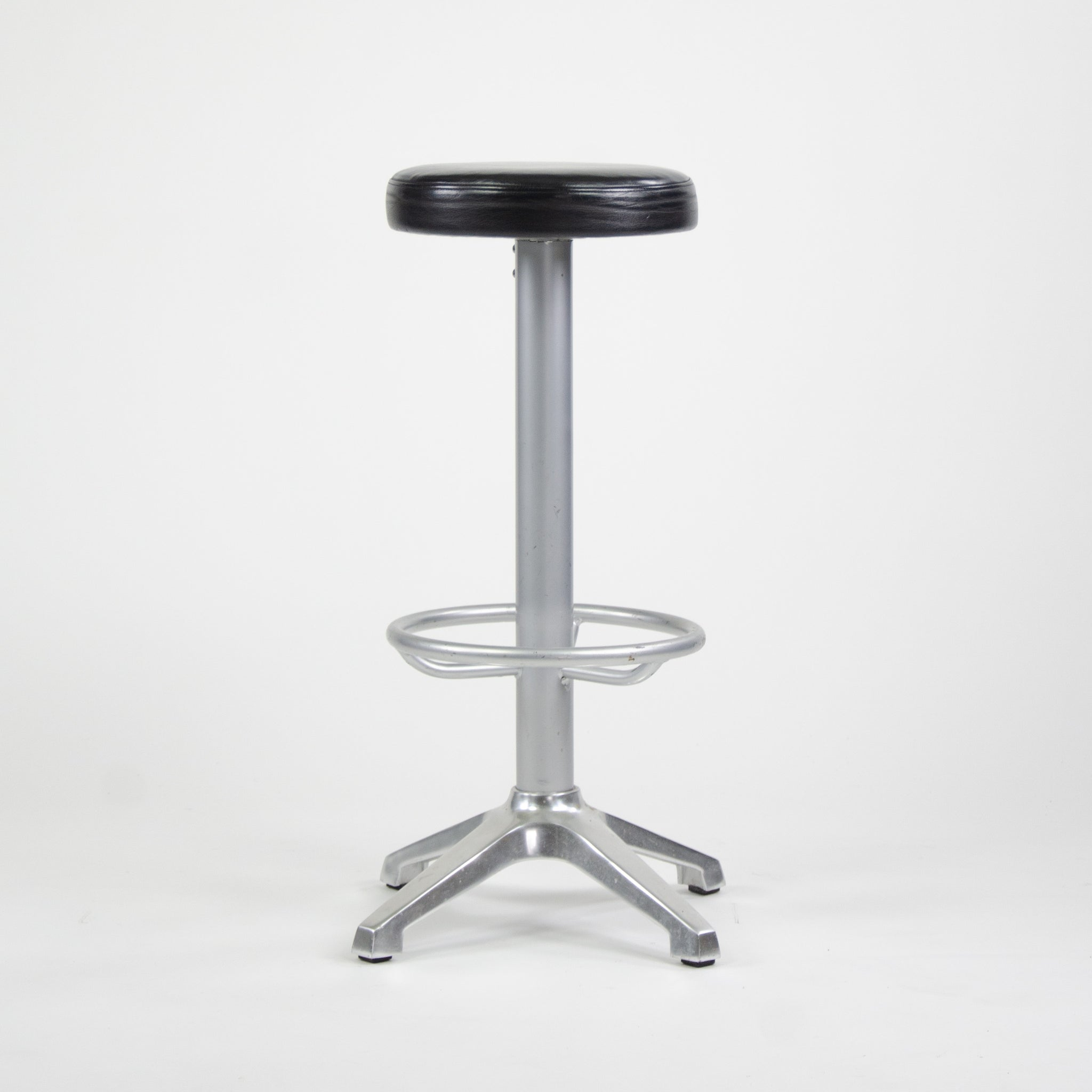 SOLD AMAT-3 Cooper Bar Counter Leather Stools Spain 4x Available