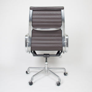 Eames Herman Miller Leather High Executive Aluminum Group Desk Chairs (8  Available)