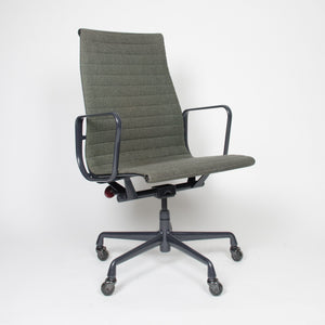 SOLD Eames Herman Miller Fabric High Executive Aluminum Group Desk Chairs