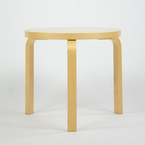 SOLD Alvar Aalto Round Side Table 60 by Artek in Birch