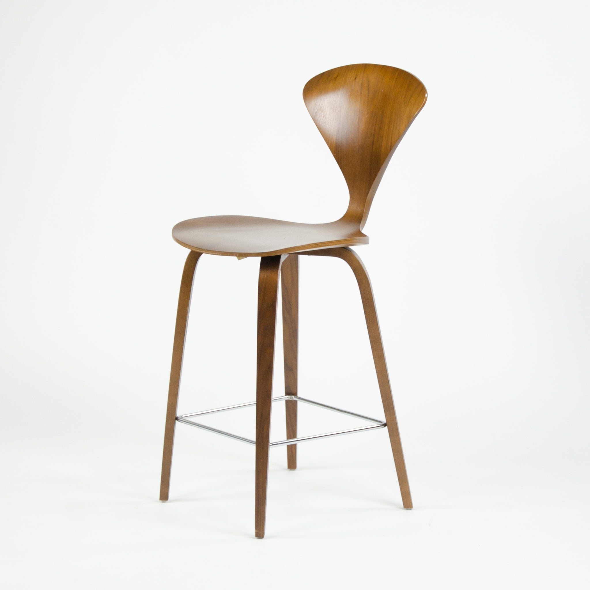 SOLD Cherner Walnut Barstools Norman Cherner Chair Company
