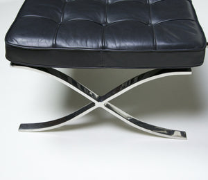 SOLD Knoll Stainless Steel Barcelona Chair and Ottoman