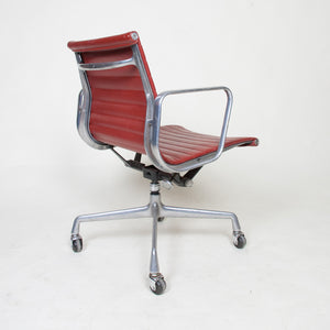 SOLD Herman Miller Eames Red Low Back Executive Aluminum Group Desk Chair #2