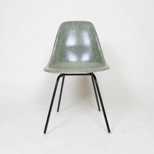 SOLD Herman Miller Eames Forest Green Fiberglass Side Shell Chair