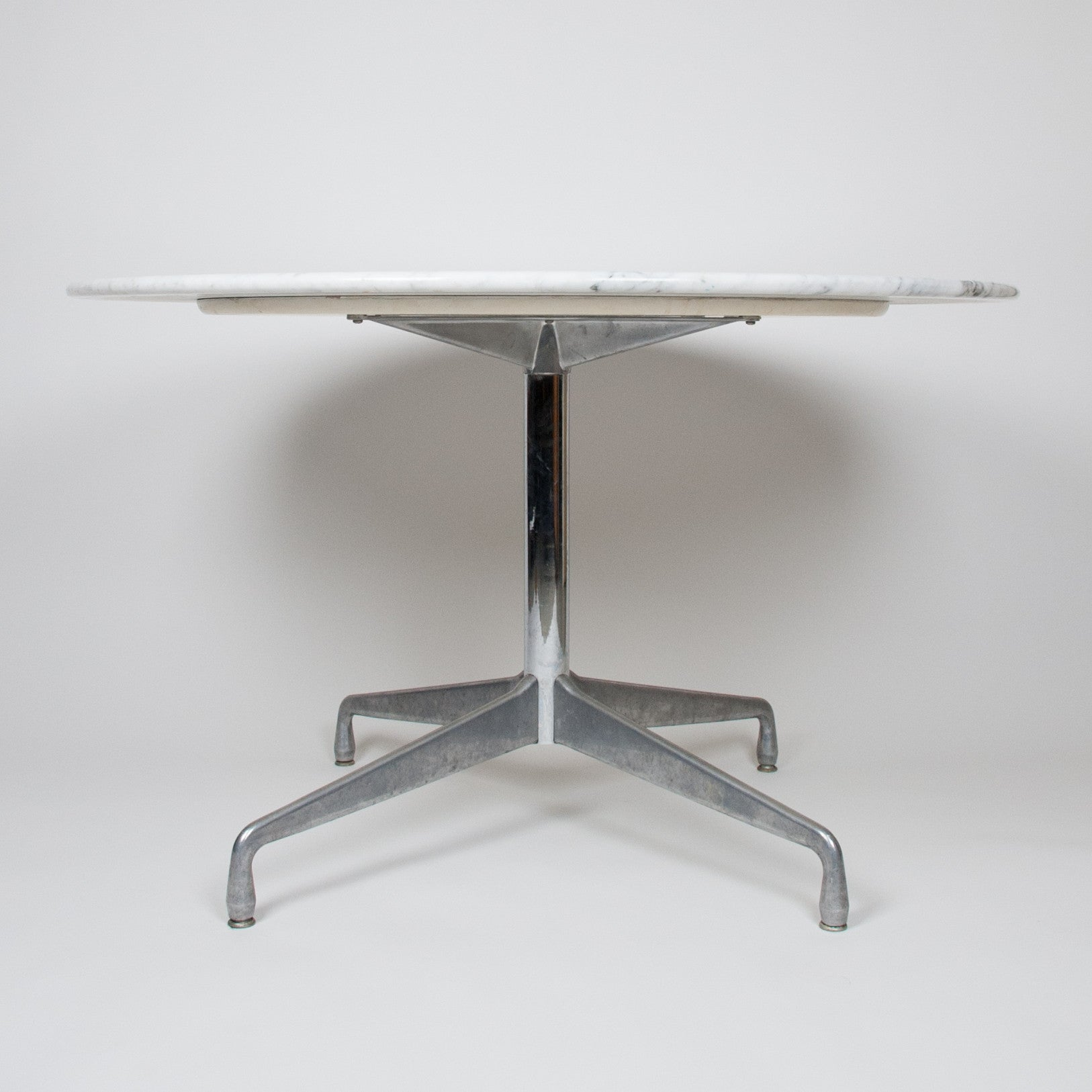 SOLD Herman Miller Eames Marble Aluminum Group Dining Conference - Eames marble table