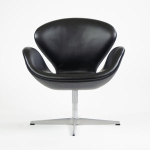 SOLD 2003 Arne Jacobsen Fritz Hansen Denmark Swan Chairs Leather Upholstery