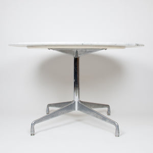 SOLD Herman Miller Eames Marble Aluminum Group Dining Conference Table