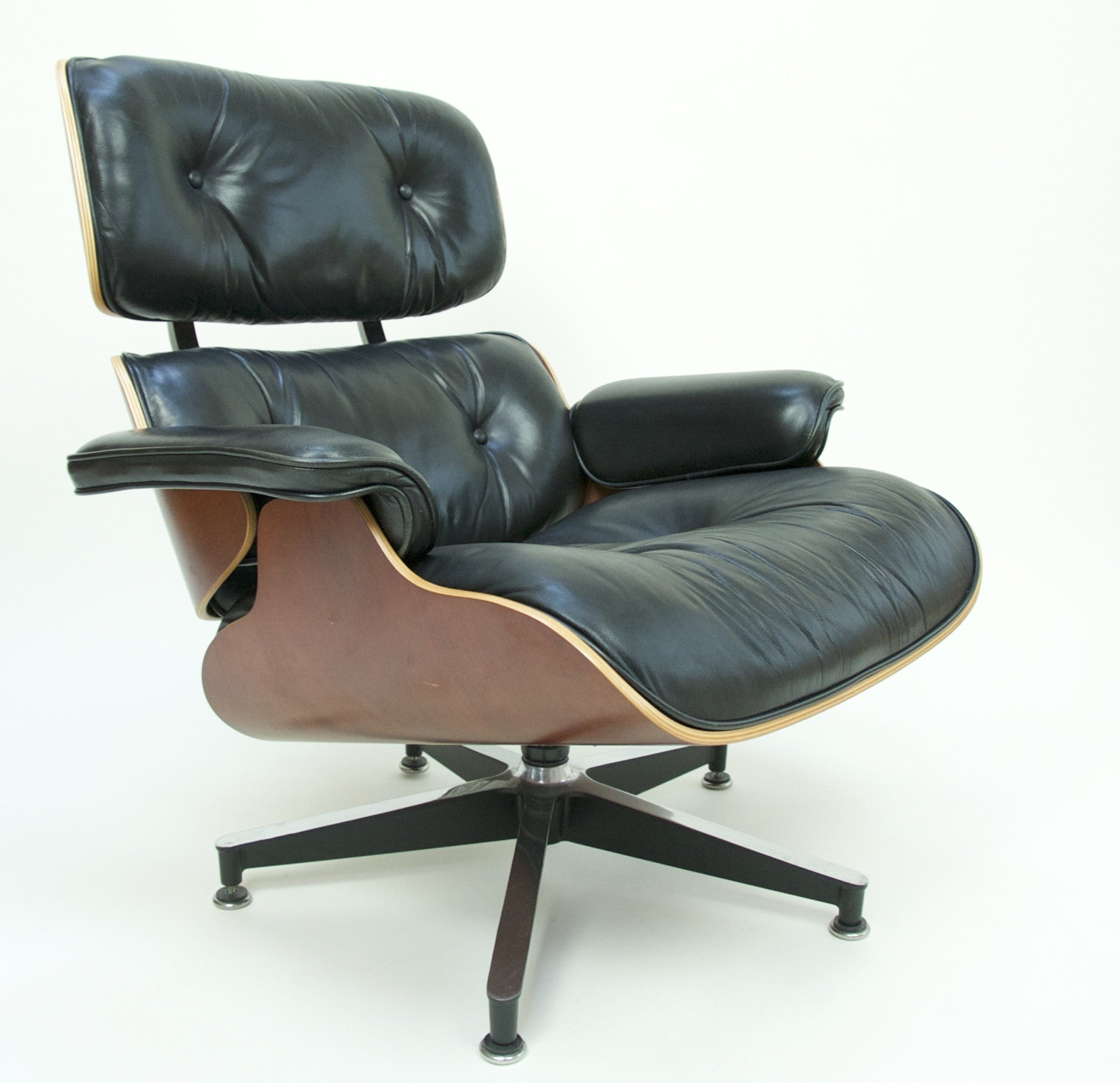 SOLD Herman Miller Eames Lounge Chair and Ottoman Cherry