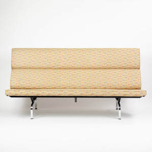 SOLD Eames Herman Miller Sofa Compact with Maharam Crosspatch Upholstery