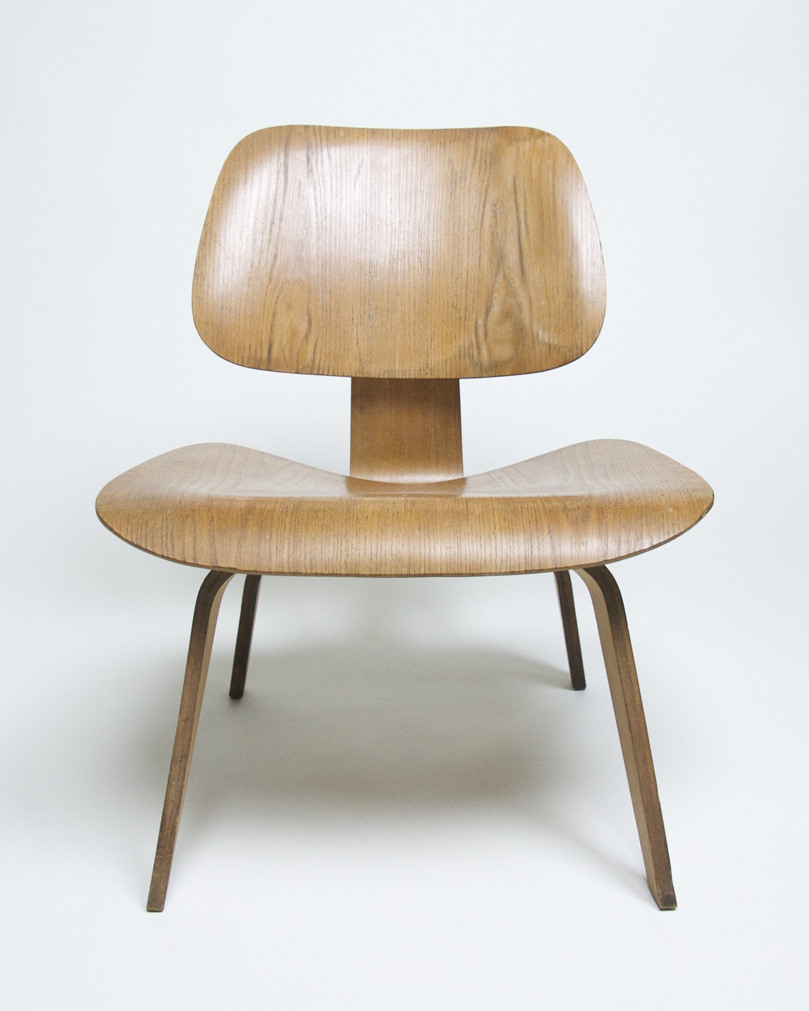 SOLD Eames Herman Miller Early 1950's LCW Plywood Lounge Chair Original Calico Ash