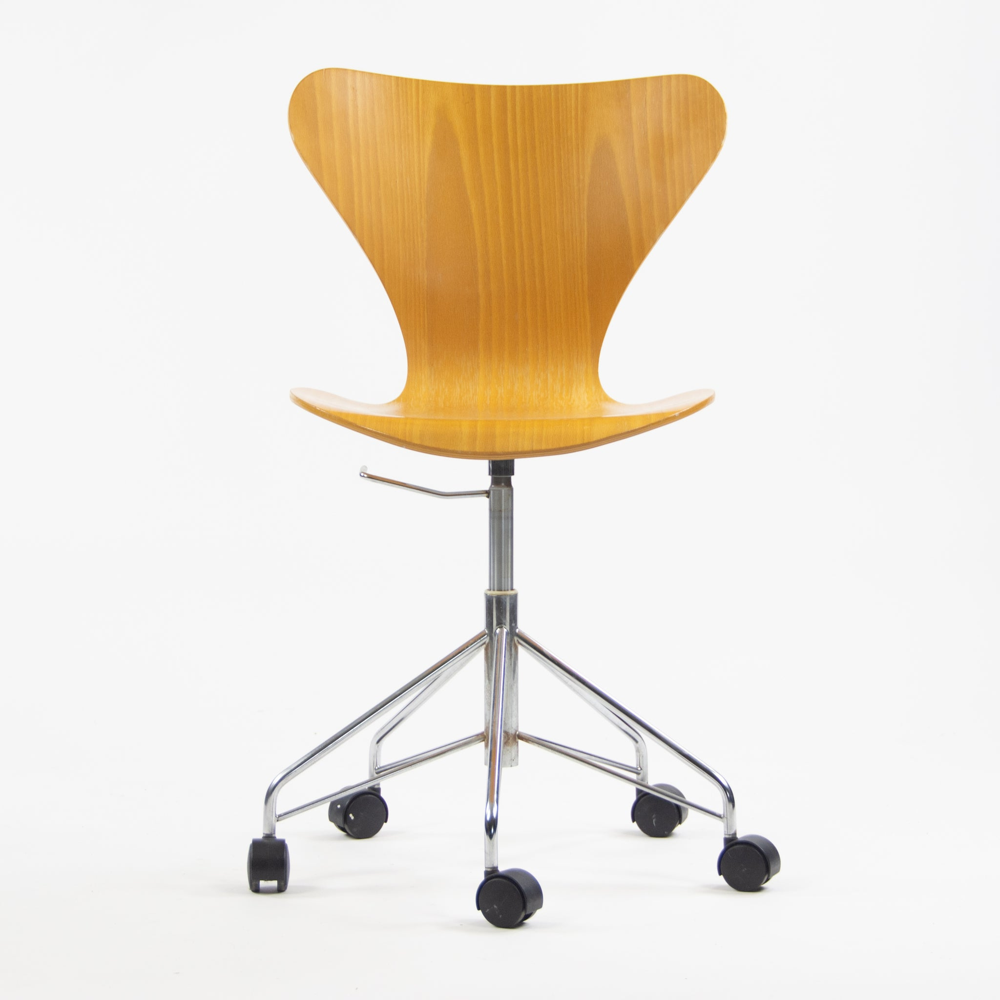 Arne Jacobsen Vintage 3117 Rolling Desk Chair by Fritz Hansen Denmark 3x Available