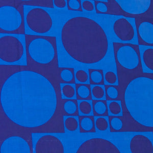 SOLD Verner Panton Blue Geometri Fabric