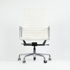 SOLD Eames Herman Miller Leather High Executive Aluminum Group Desk Chair White 2018