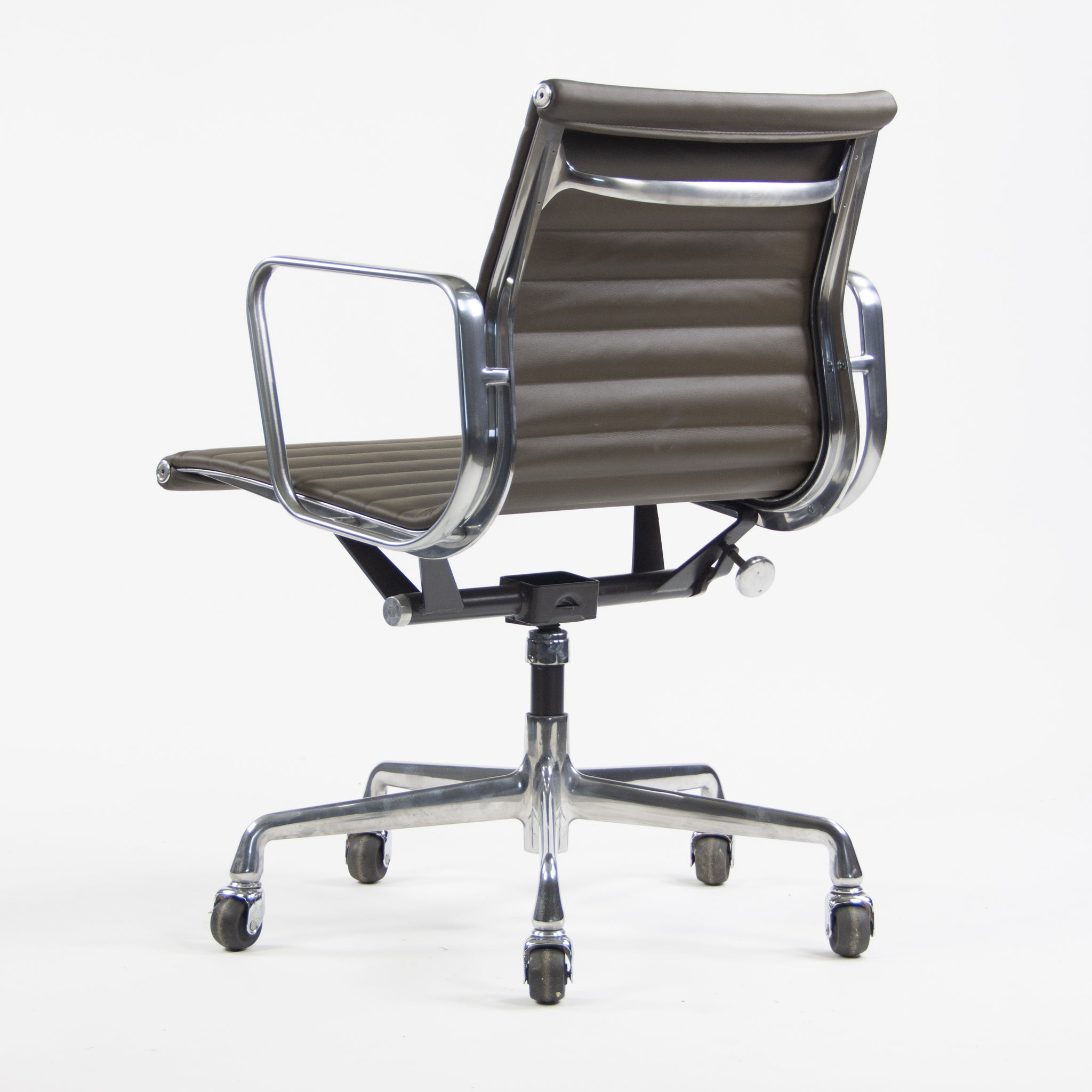 SOLD Herman Miller Eames New Old Stock Low Aluminum Group Management Desk Chair Brown