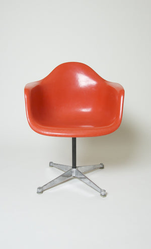 SOLD Extremely Rare 1969 Original Eames Herman Miller Matching Set of 10 Orange/Red