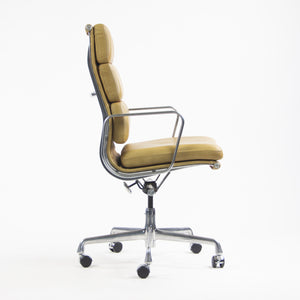 SOLD Herman Miller Eames High Soft Pad Aluminum Executive Desk Chairs 2x Available Tan