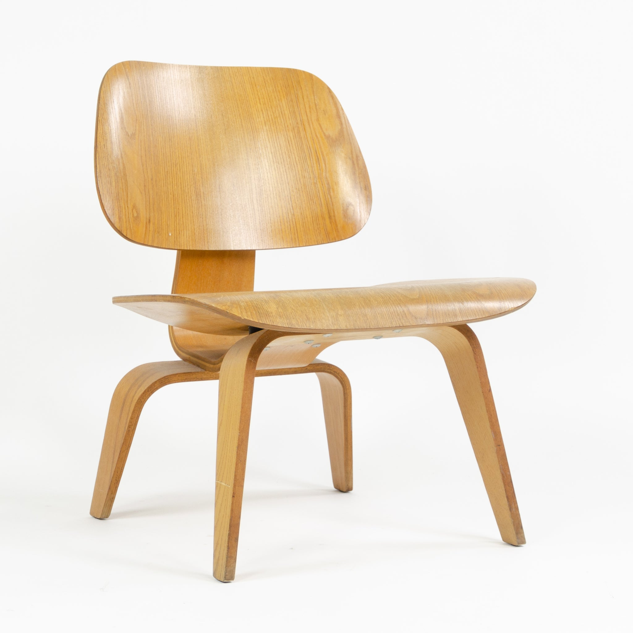 Eames Herman Miller 1951 LCW Lounge Chair Wood Evans Calico Ash