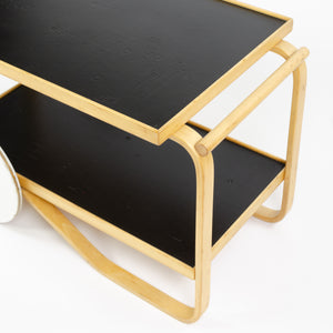 SOLD 1970's Early Alvar Aalto Artek Finsven Finmar 901 Bar Cart Tea Trolley Birch
