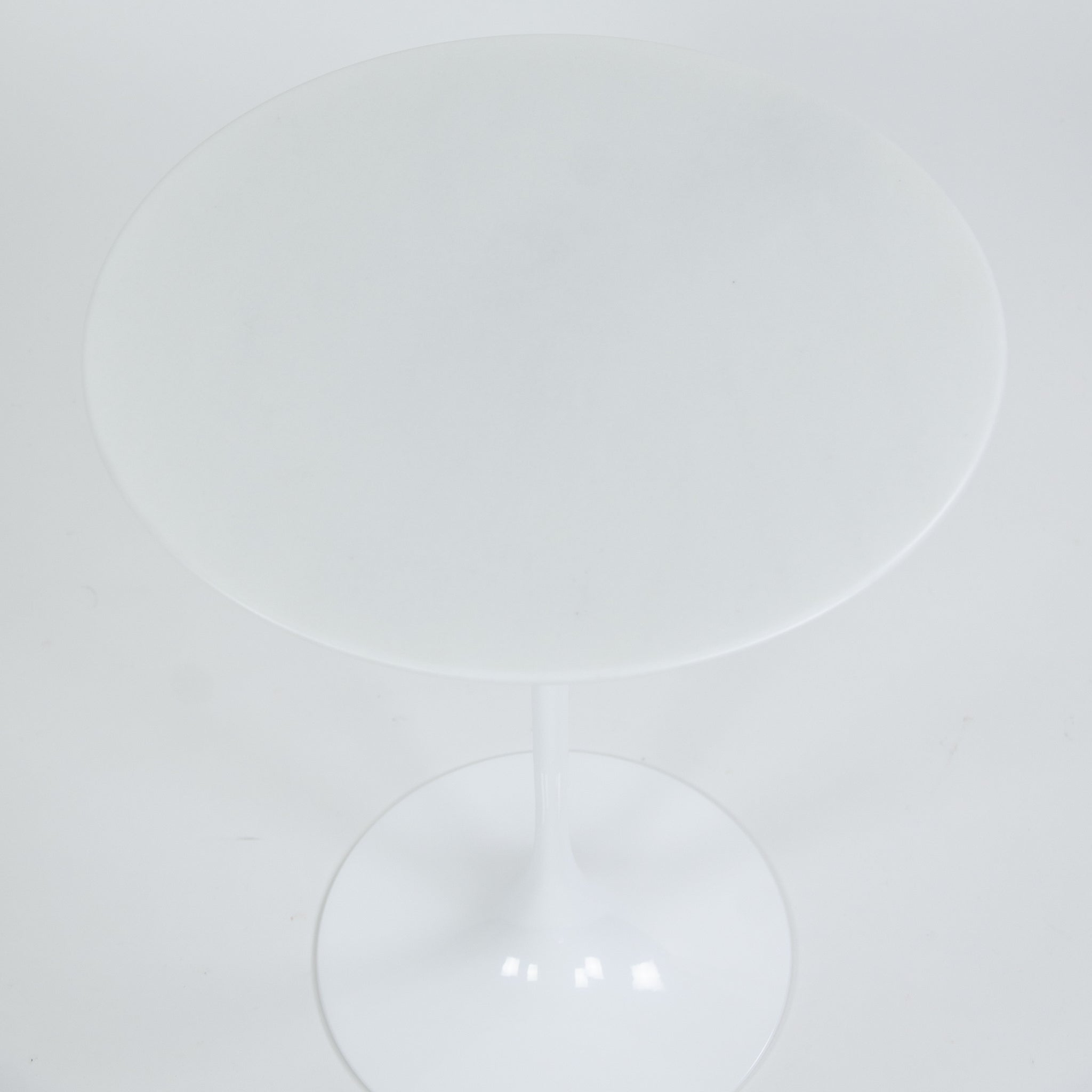 SOLD New Eero Saarinen For Knoll 16 Inch Tulip Side Table Matte White Marble Top 2x